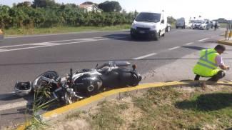 Sant'Agata, schianto fra una moto e un furgone: grave un uomo