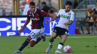 Amarezza Bologna, il Sassuolo segna nel finale e si porta a casa il derby