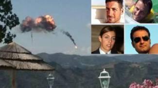 La collisione fra i tornado e i quattro piloti