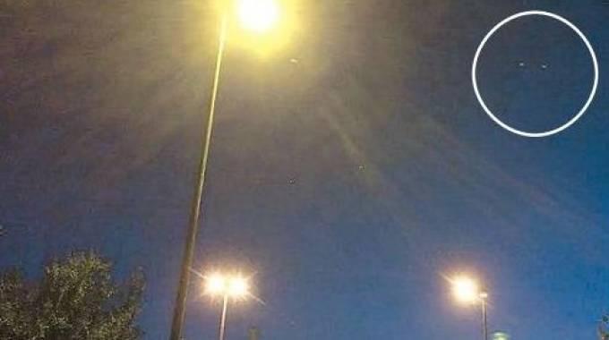 Una foto scattata ai presunti Ufo
