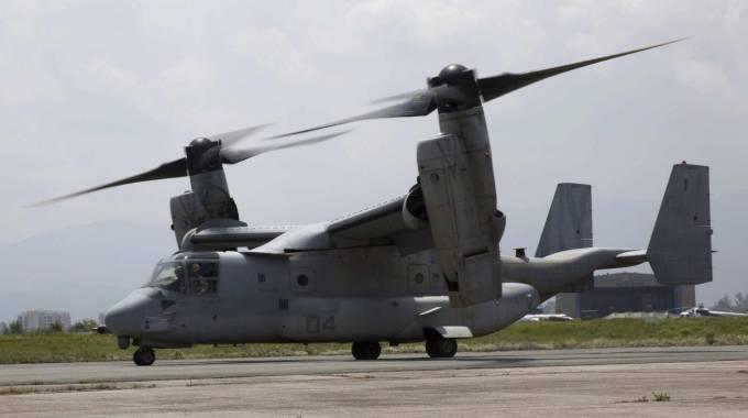 Osprey Elicottero : Hawaii convertiplano militare fallisce atterraggio